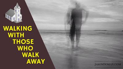 walking away from church